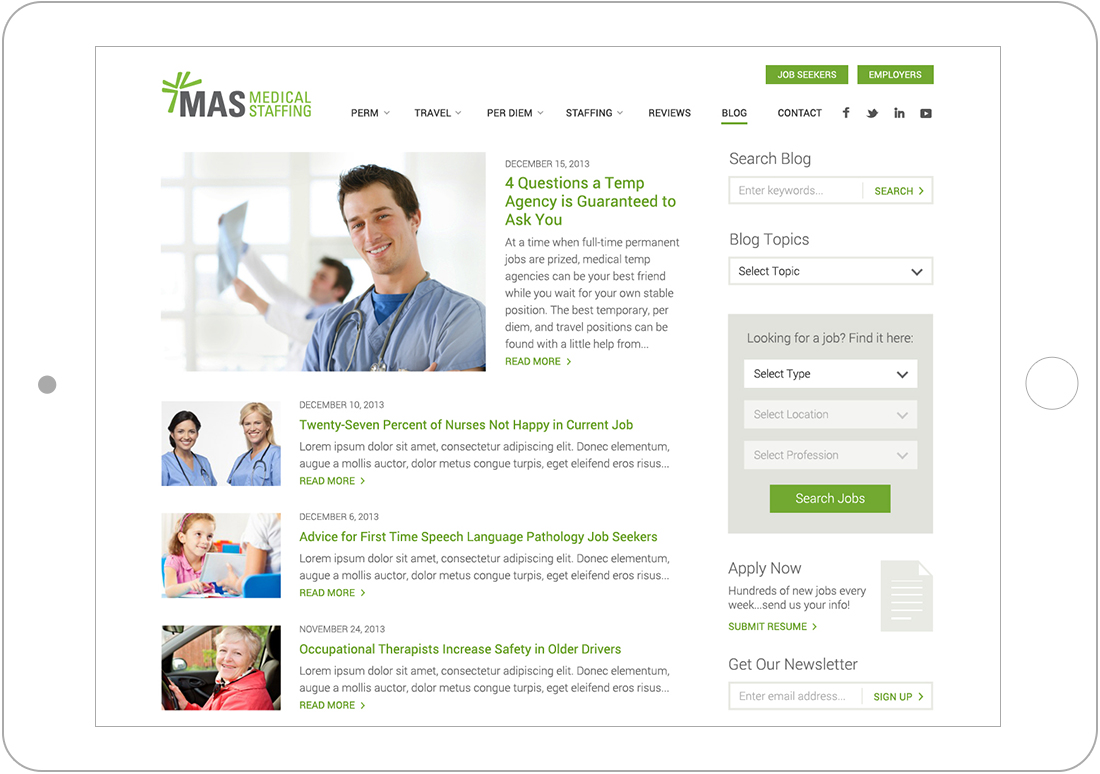 blog for WordPress website design