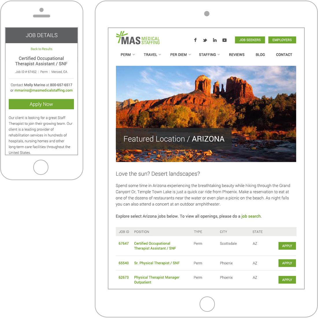 job details page for WordPress website design