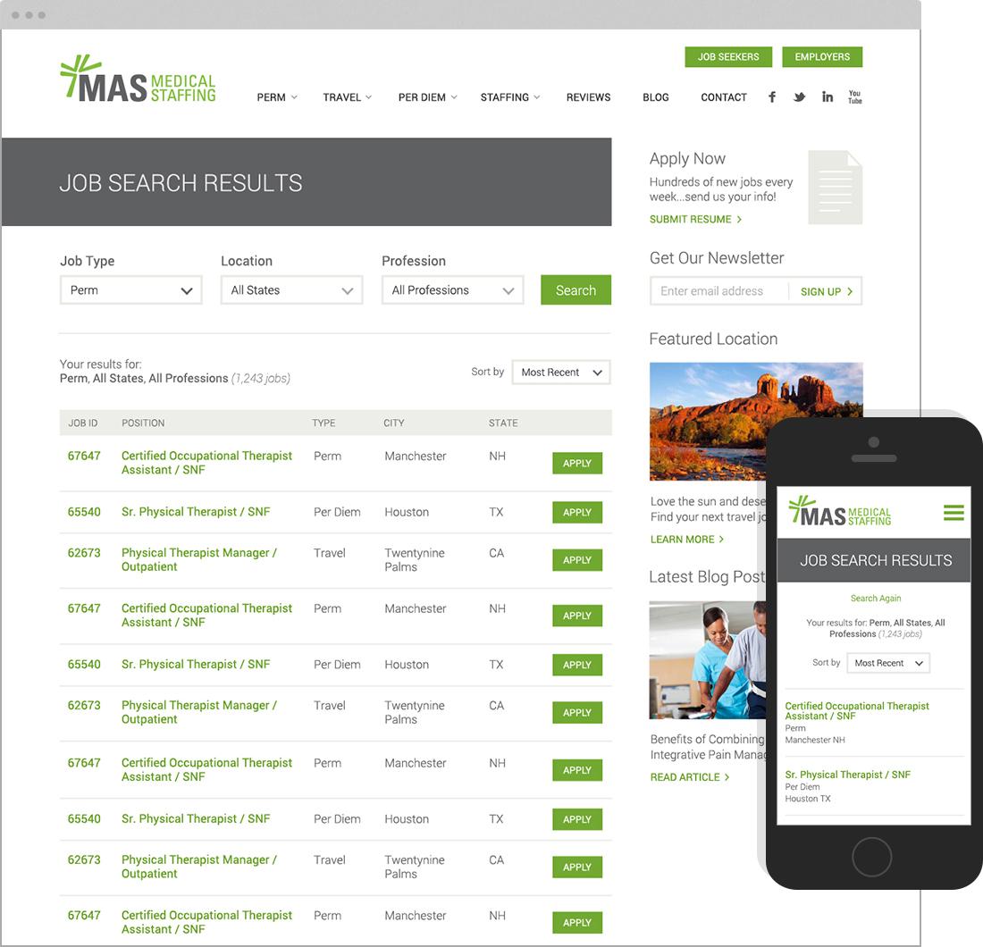 results for WordPress website design