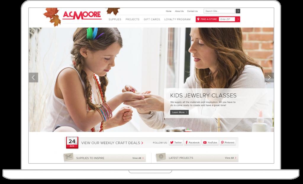 home page for Magento web design