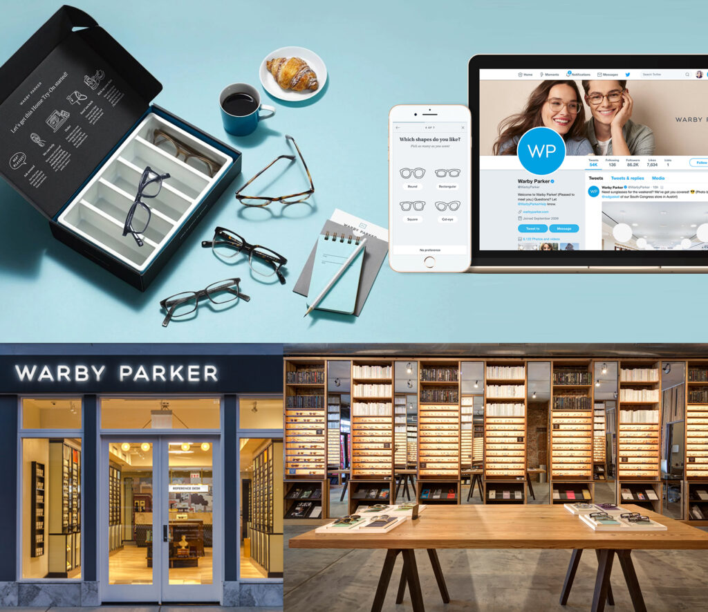 Integrate your brand into every aspect of your business | Warby Parker branding | 11 Simple Steps for a Successful Brand Building Process