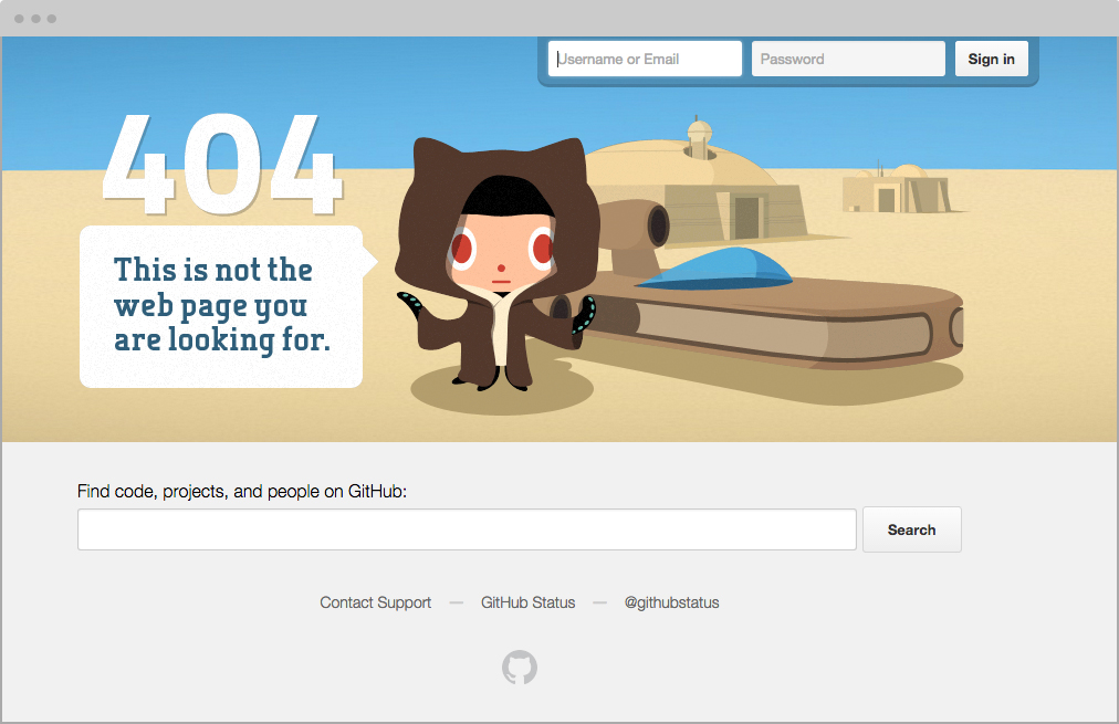 404 Page Best Practices: Github Website   5 User Experience Tips for Creating the Best Error Messages