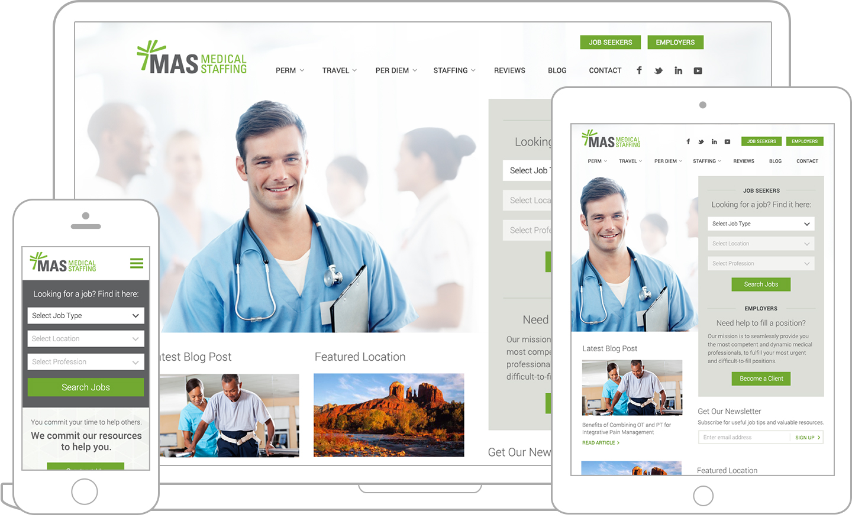 MAS responsive web design for mobile