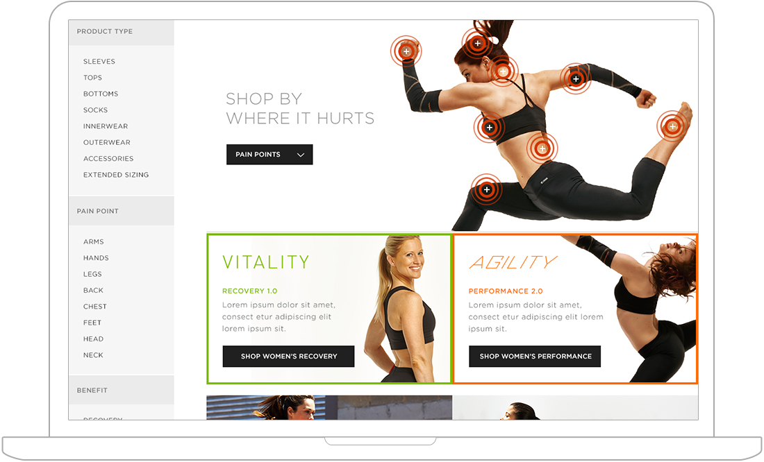 Category page for Magento design
