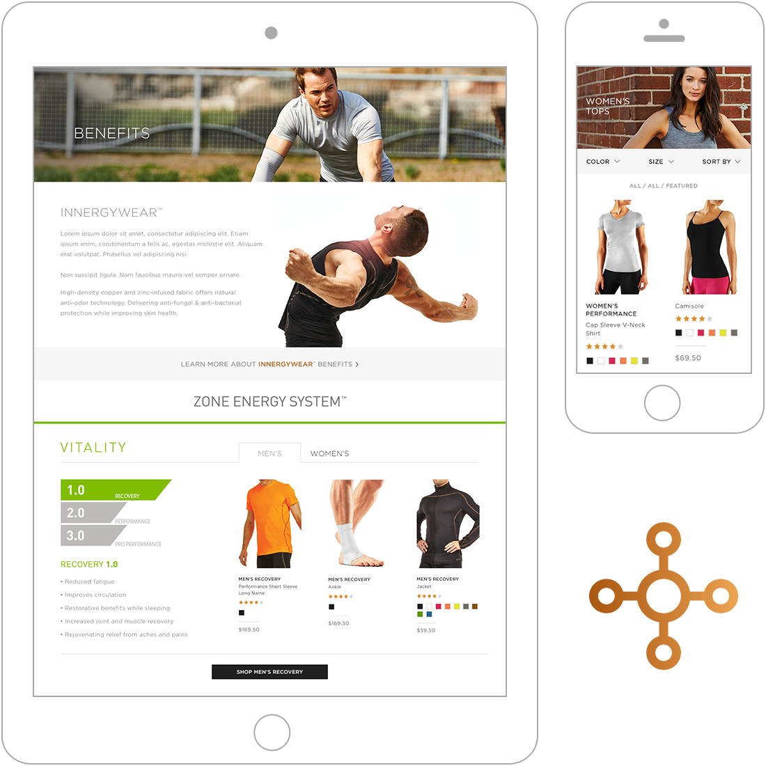 Internal page for Magento design