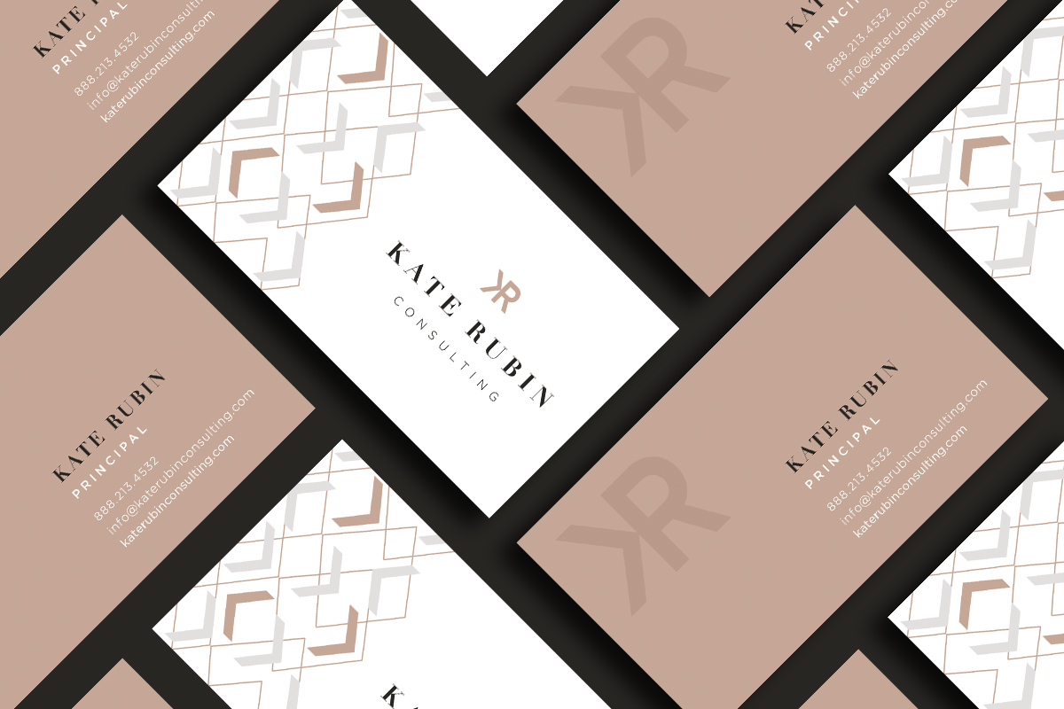 Brand identity business card design for marketing consultant