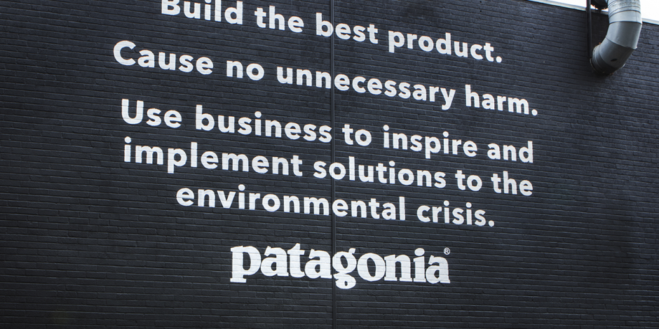 Purpose-driven brand Patagonia - image of Mission Statement