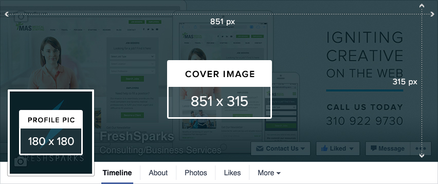 Social Media Best Practices for Business | Facebook image sizes
