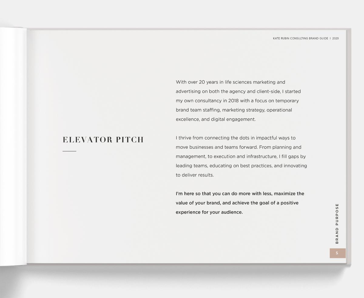 Kate Rubin Brand Guide - Elevator Pitch