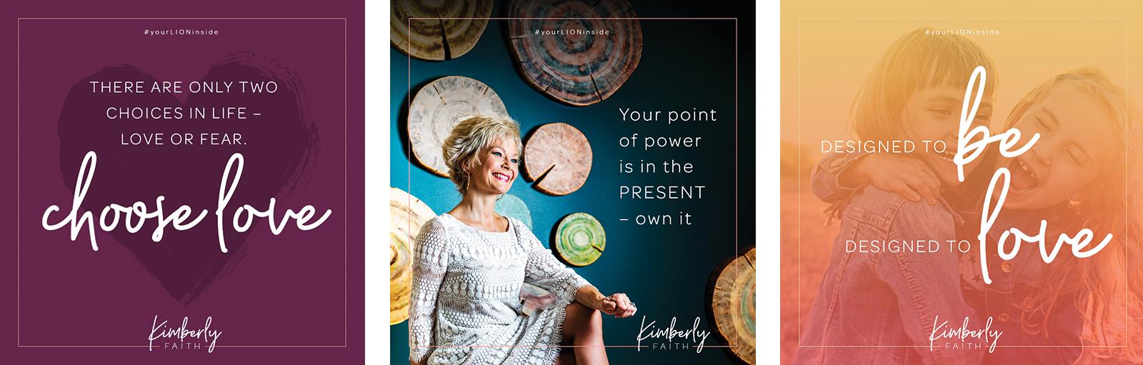 Kimberly Faith Personal Brand Identity - Social Media Graphics