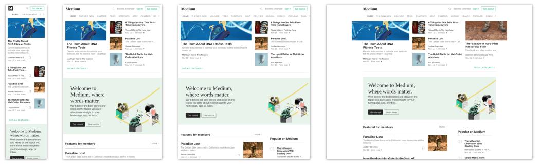 Mobile Responsive Design: Medium