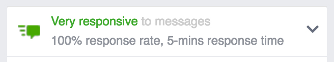 6 Key Elements of Using Social Media for Customer Service | Facebook response rate badge (very responsive)